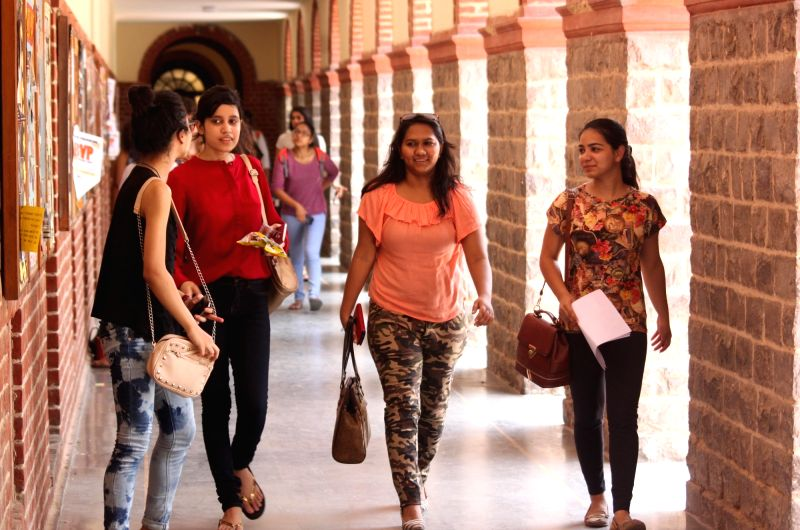Freshers at Delhi University on Day-2 of their college lives in New Delhi on July 21, 2016.