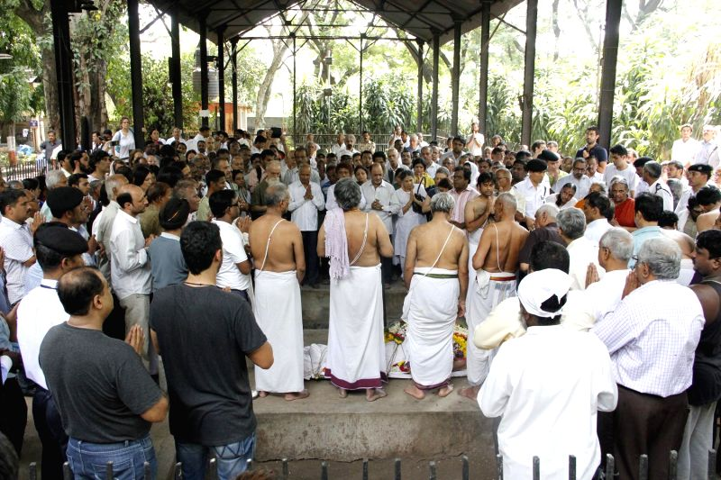Funeral of Yoga guru B.K.S. Iyengar, who founded the 'Iyengar Yoga' in Pune on Aug 20, 2014. He breathed his last around 3.15 a.m at a Pune hospital after a brief battle with age-related ...