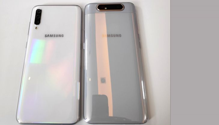Galaxy A70 (Left) and Galaxy A80 (Right).