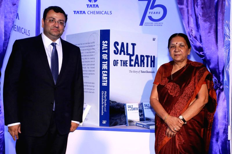 Gujarat Chief Minister Anandiben Patel with Tata group chairman, Cyrus Mistry at the launch of `Salt of the Earth` - a book that tells the story of Tata chemicals journey over 75 years .. - Anandiben Patel