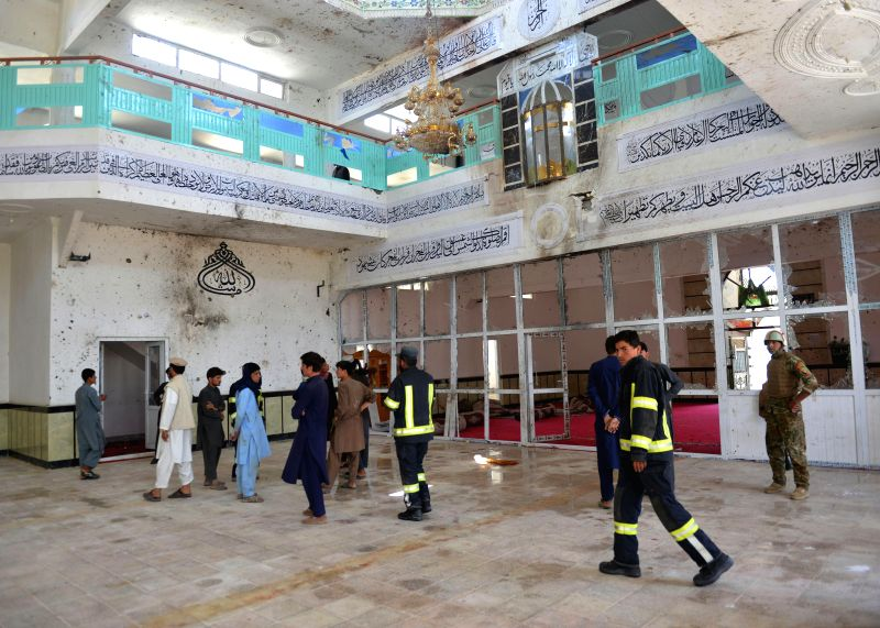 GARDEZ, Aug. 4, 2018 - Photo taken on Aug. 4, 2018 shows the Imam-i-Zaman Mosque after an attack in Gardez city, the capital of Afghanistan's eastern Pakia province. The deadly attack on the mosque ...