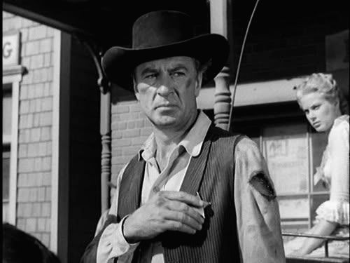 "Gary Cooper at the climatic scene of path-breaking Western ""High Noon\"", directed by Fred Zinnemann"