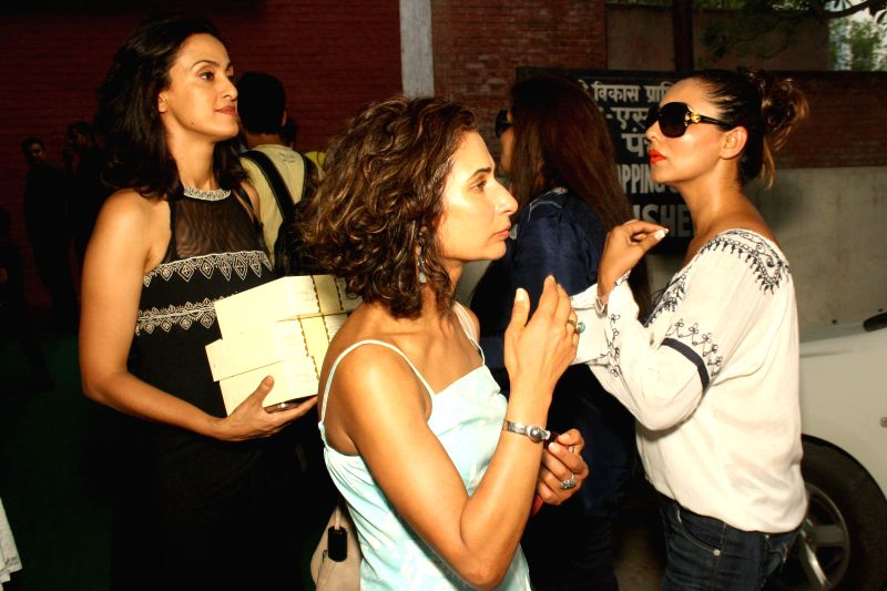 Gauri Khan, wife of actor Shah Rukh Khan at the opening of new showroom and restaurant ``The Brown Box Bakery`` in New Delhi on June 28, 2014. - Shah Rukh Khan