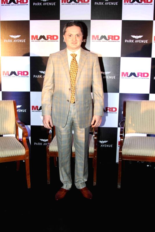 Gautam Singhania, CMD, Raymond Group during the launch of Park avenue deodorants in association with Men against Rape and Discrimination (MARD), in Mumbai on Dec 3, 2015.