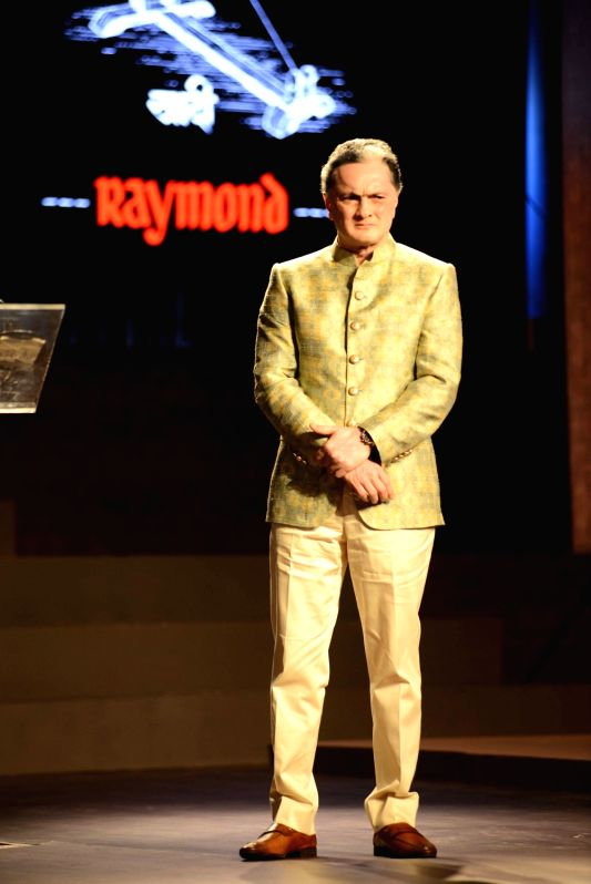 Gautam Singhania, CMD, Raymond Group during the fashion show with a theme Raymond Khadi - A Story Re - Spun in Mumbai, on May 18, 2017.