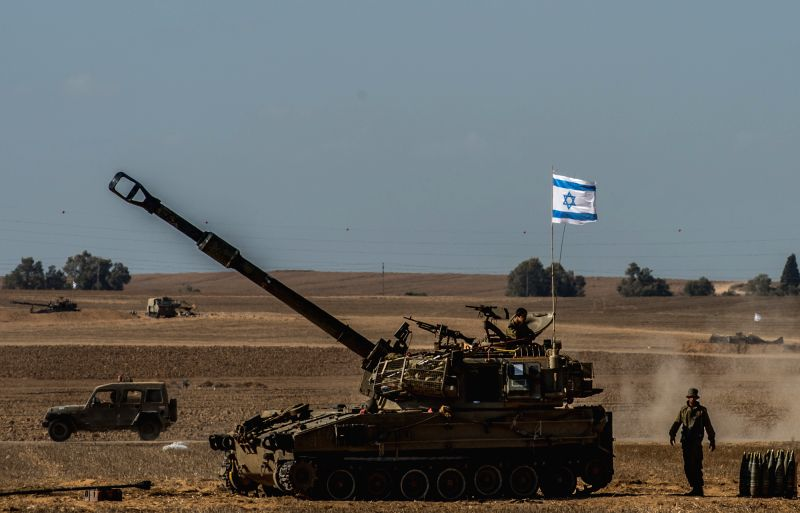 A self-propelled howitzer is deployed in south Israel bordering the Gaza Strip, on Aug. 8, 2014. Israel and the Palestinians have failed to extend the 72-hour ...