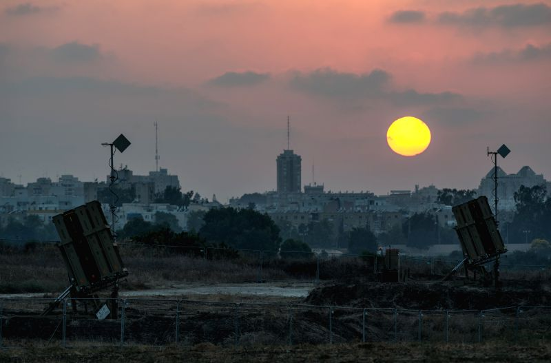 Iron Dome anti-missile shield systems are deployed near Ashdod, a southern Israeli city bordering the Gaza Strip on July 22, 2014, the 15th day of Operation ...