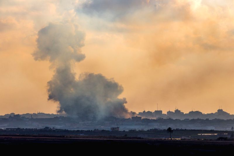 Smoke billows following an Israeli air strike in northern Gaza Strip, on the 17th day of Operation Protective Edge, on July 24, 2014. Though Israel's air and ...