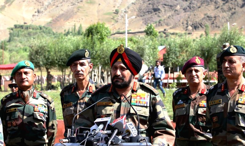 General Bikram Singh, Chief of Army Staff arrived at Drass (J&K) on July 25, 2014. On the occasion of the 15th anniversary of `Operation Vijay Diwas` in the Kargil War in 1999. - Bikram Singh