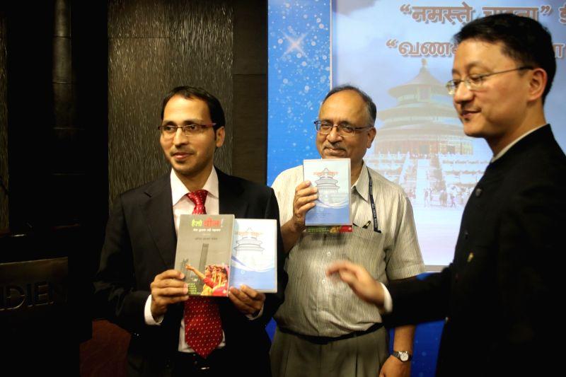 "General Director of China Radio International Wang Gengnian at the launch of Hindi and Tamil DVD of ""Hello, China"" in New Delhi, on April 4, 2016."