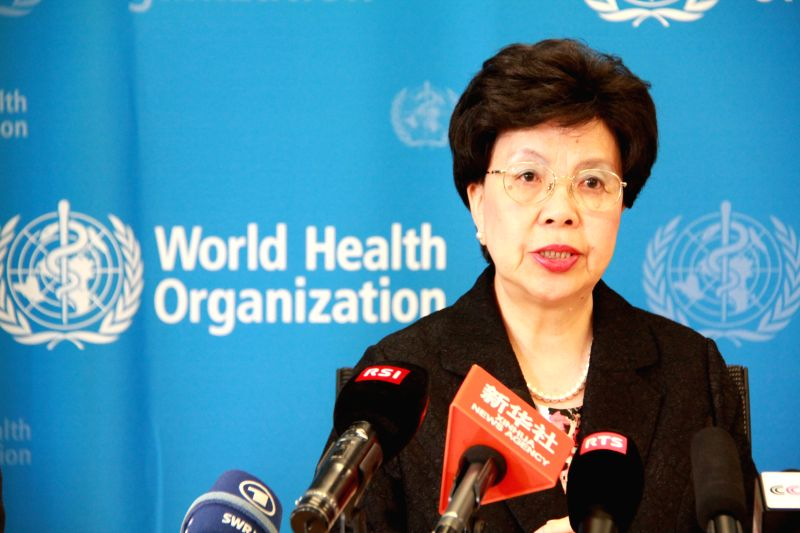 Margaret Chan, director-general of the World Health Organization (WHO), speaks during a press conference at the WHO headquarters in Geneva, Switzerland, Aug. 8, 2014.