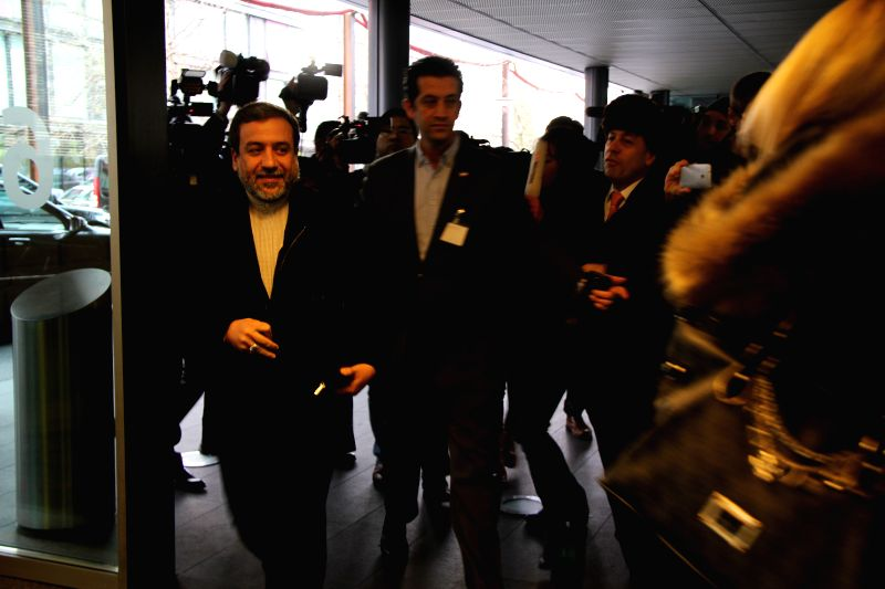 Iranian Deputy Foreign Minister Abbas Araqchi(L) arrives for the new round of Iran nuclear talks in Geneva, Switzerland, on Jan. 18, 2015. The new round of ... - Abbas Araqchi