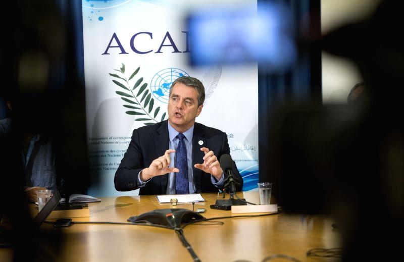 GENEVA, July 26, 2018 - World Trade Organization (WTO) Director-General Roberto Azevedo addresses the media in Geneva, Switzerland, July 25, 2018. Increasing trade restrictions may become a new ...