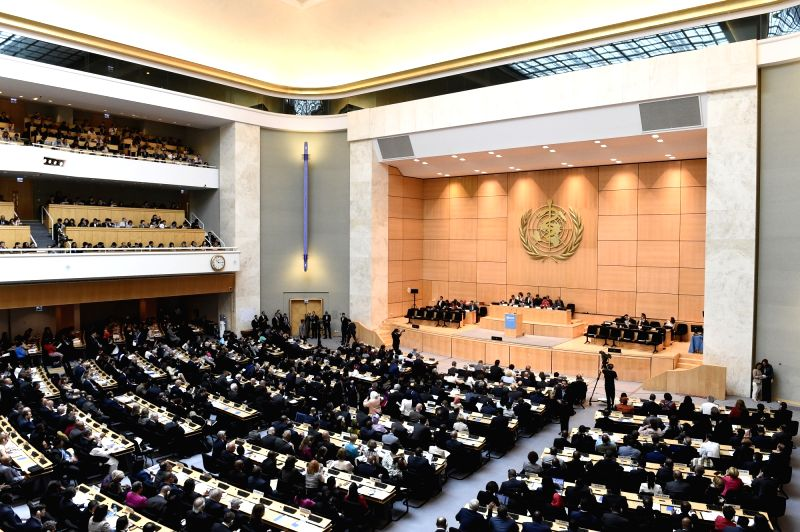 GENEVA, May 22, 2017 - Participants attend the opening of the 70th World Health Assembly, in Geneva, Switzerland, May 22, 2017.