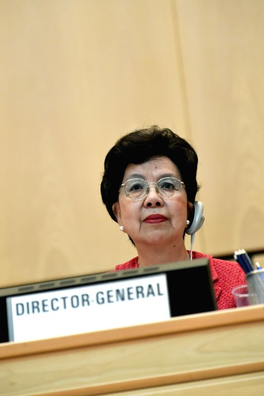 GENEVA, May 22, 2017 - World Health Organization Director-General Margaret Chan attends the opening of the 70th World Health Assembly, in Geneva, Switzerland, May 22, 2017.