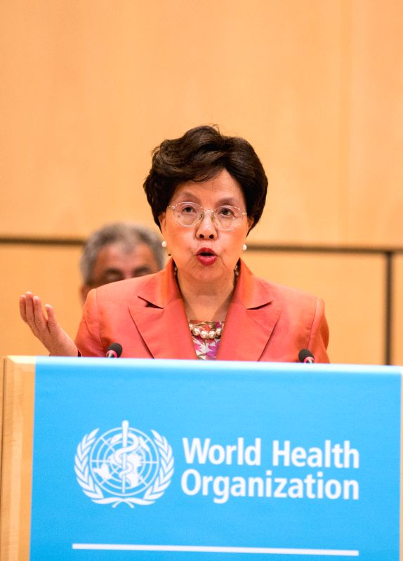 GENEVA, May 23, 2016 - World Health Organization Director-General Margaret Chan delivers a speech at the 69th session of World Health Assembly in Geneva, Switzerland, May 23, 2016. The 69th World ...