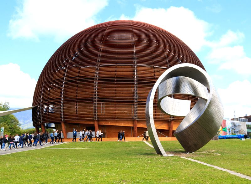 GENEVA, May 9, 2017 - People visit the Globe of Science and Innovation of the European Organization for Nuclear Research (CERN) after the inauguration of the Linac 4 linear accelerator in Meyrin near ...