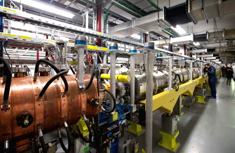 GENEVA, May 9, 2017 - People visit the Linac 4 linear accelerator at the European Organization for Nuclear Research (CERN) in Meyrin near Geneva, Switzerland, on May 9, 2017. Scientists at the CERN ...