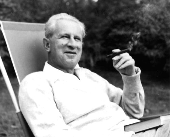 German social philosopher Herbert Marcuse who chronicled the travails of man in an increasingly industrialized society