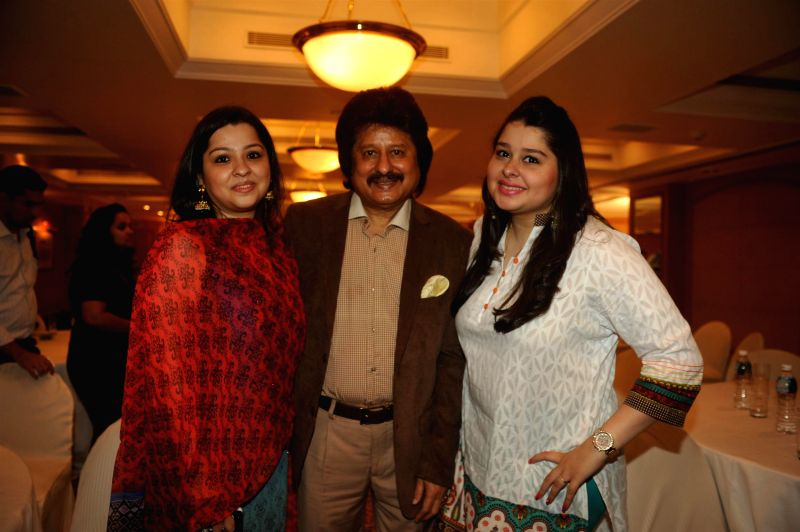 Ghazal singer Pankaj Udhas and others during a press conference organised to announce `The Festival of Ghazal` in Mumbai on July 23, 2014.