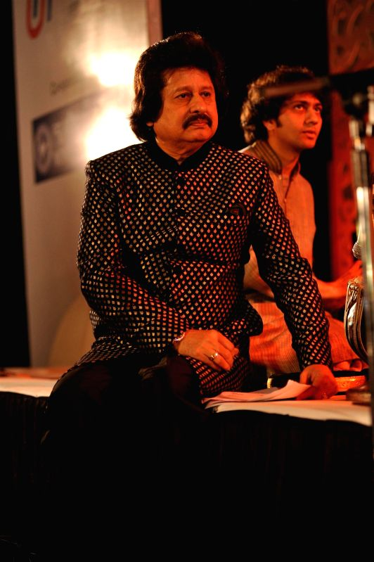 Ghazal singer Pankaj Udhas during the Khazana, A Festival of Ghazals organized in aid of Cancer Patients Aid Association and Parents Association Thalassemic Unit Trust in Mumbai, on August 1, 2014.
