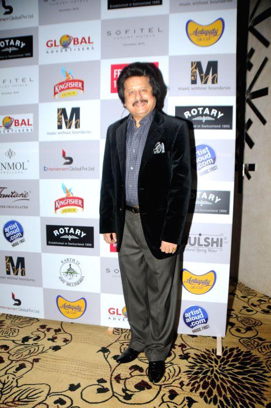 Ghazal singer Pankaj Udhas during the Medha Jalota's birthday party in Mumbai on June 25, 2014.