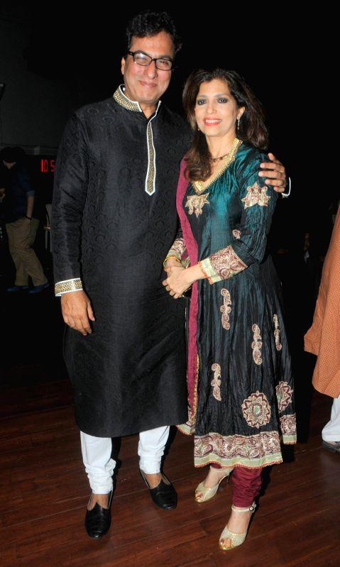 Ghazal singer Talat and Bina Aziz during the Jagjit Singh's brother Kartar Singh's book launch in Mumbai on July 18, 2014. - Jagjit Singh
