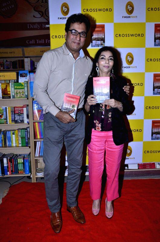 Ghazal singer Talat Aziz and Author Madhuri Iyer during the launch of Madhuri Iyer's book Manhattan Mango in Mumbai, on July 4, 2014.