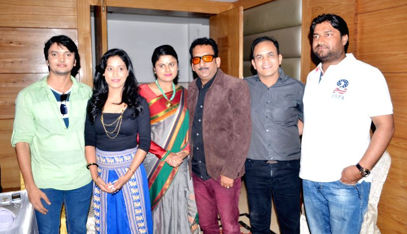 The star cast of `Sunami Ishq` during the promotion of their upcoming film in Ghaziabad on Feb. 23, 2015.