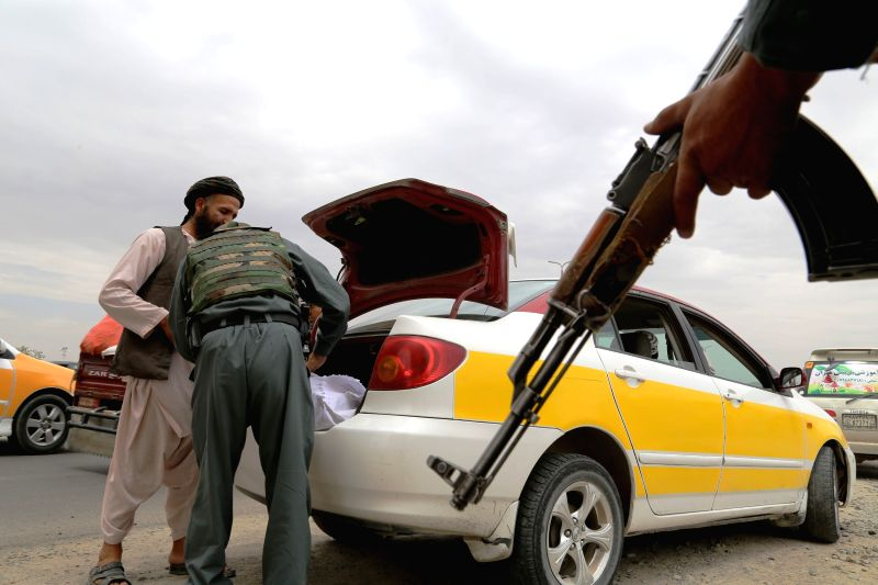 GHAZNI(AFGHANISTAN), Aug. 7, 2016 An Afghan policeman searches a vehicle during a military operation in Ghazni province, Afghanistan, Aug. 7, 2016. Some 11 Taliban militants including two ...
