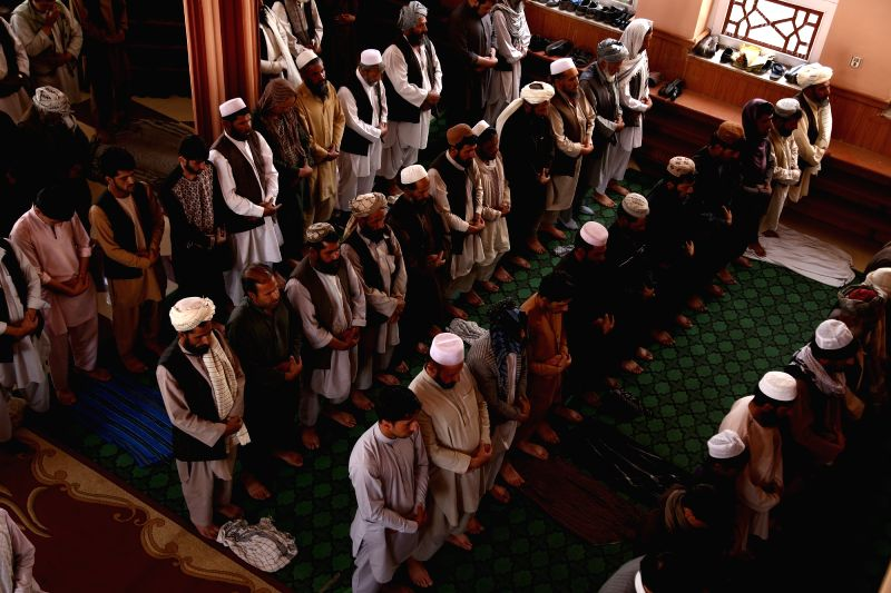 GHAZNI, June 5 Afghan men pray at a mosque during the holy month of Ramadan in Ghazni province, Afghanistan, June 5, 2017.