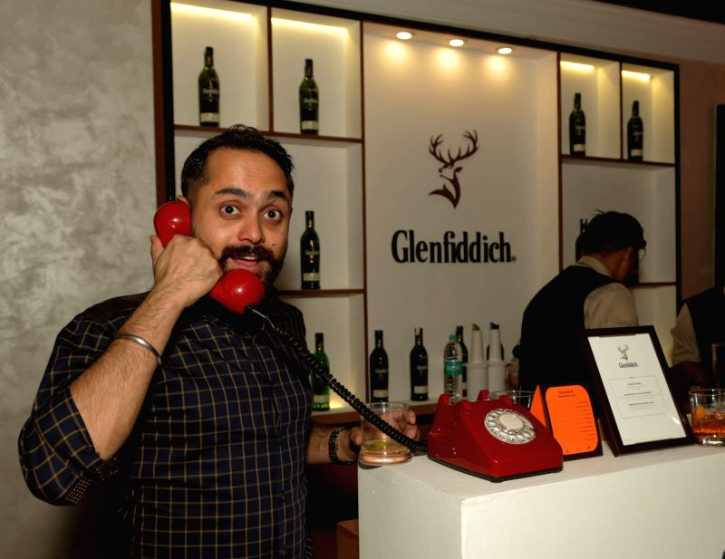 "Glenfiddich India Brand Ambassador Angad Singh Gandhi during fashion designer Shantanu-Nikhil's show - ""Independence"" where their Autumn-Winter 2018 couture collection was ... - Angad Singh Gandhi"