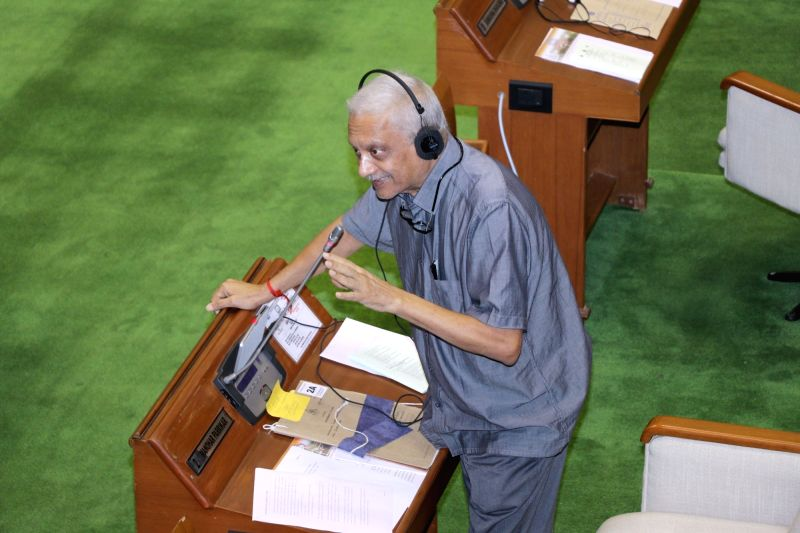 Goa Chief Minister Manohar Parrikar addresses during the first day of Monsoon Session of Goa Legislative Assembly at Porvorim, Goa on July 19, 2018. - Manohar Parrikar