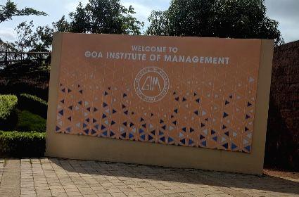 Goa Institute of Management.