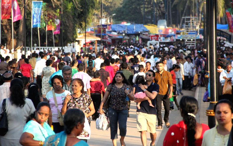 People throng SE  Cathedral Church on the eve of St Francis Xavier Feast in Old Goa on Dec 2, 2014.