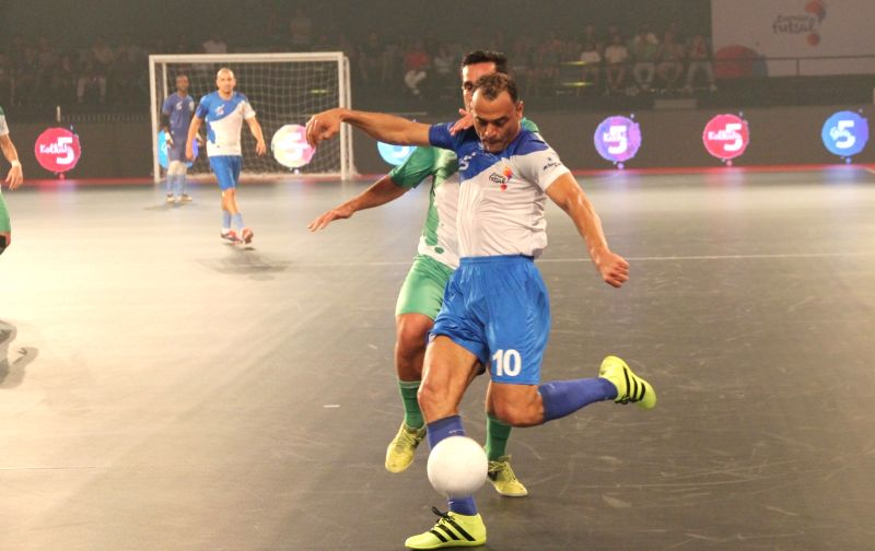 Goa's Cafu in action during a Premier Futsal match between Goa and Bengaluru at Duler Stadium in Mapusa, Goa on July 21, 2016.