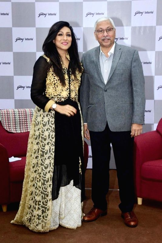 Godrej Interio Chief Operating Officer Anil S. Mathur and actress Rituparna Sarkar at the launch of Godrej Interio's store in Kolkata on July 25, 2018. - Rituparna Sarkar