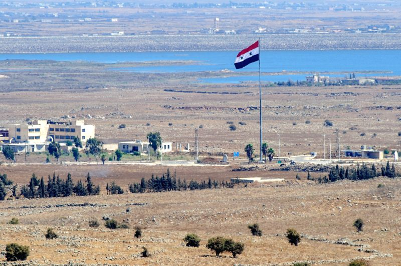 Southern Syrian city of Quneitra is seen on the Golan Heights, on Aug. 28, 2014. The United Nations demanded Thursday the unconditional and immediate release .