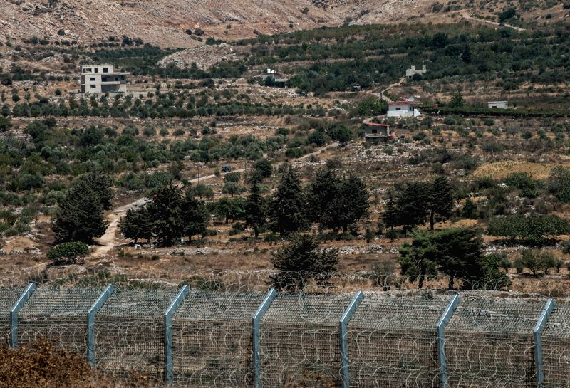 "Houses are seen at the ""Shouting Hill"" near Majdal Shams, a Druze village adjacent to the interim border fence on the northern Golan Heights, on ..."