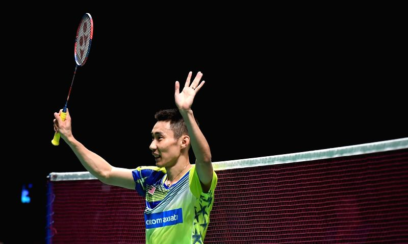 GOLD COAST, May 24, 2017 - Lee Chong Wei of Malaysia celebrates after the men's singles match of Group 1-Group 1C against Igarashi Yu of Japan at TOTAL BWF Sudirman Cup 2017 in Gold Coast, Australia, ...