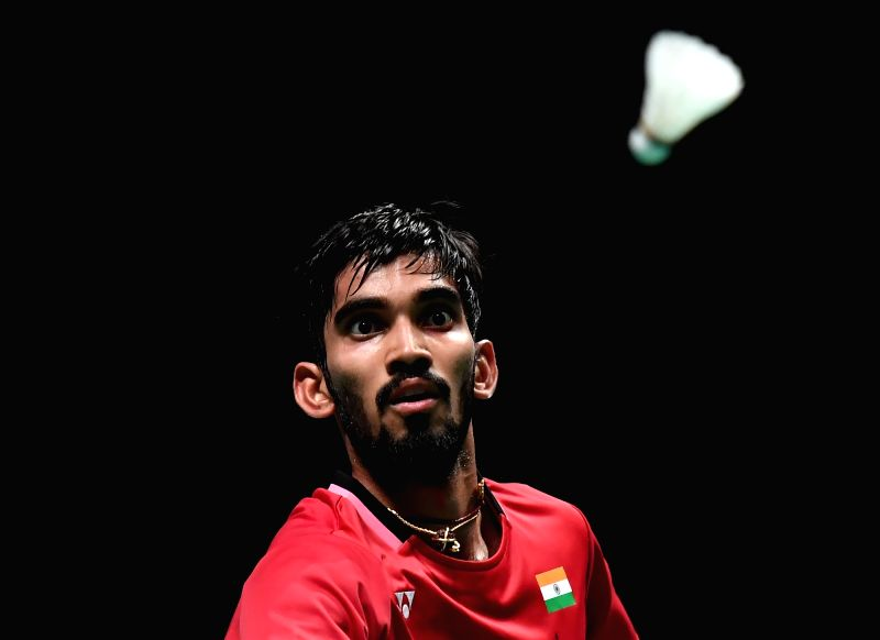 GOLD COAST, May 26, 2017 - Kidambi Srikanth of India competes during the men's singles match of Group 1 against Chen Long of China at TOTAL BWF Sudirman Cup 2017 in Gold Coast, Australia, May 26, ...