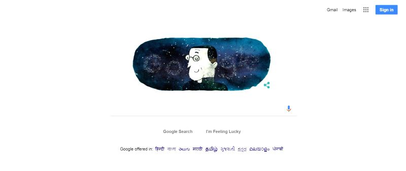 Google on Tuesday dedicated an animated Doodle to Belgian cosmologist Georges Lemaitre who in 1927 propounded the Big Bang theory when he theorised that the universe began as a single point and ...