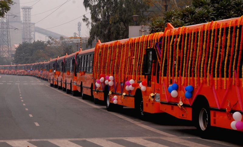 Sisodia flags off 100 new GPS enabled buses