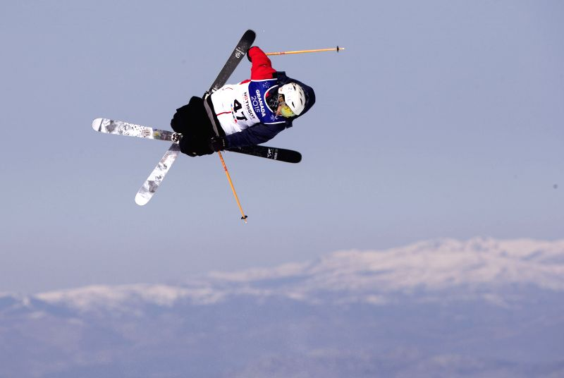 Cody Potter of the United States competes during the men's ski slopestyle finals at the 27th World Winter Universiade in Granada, Spain, Feb. 9, 2015. Cody Potter ..