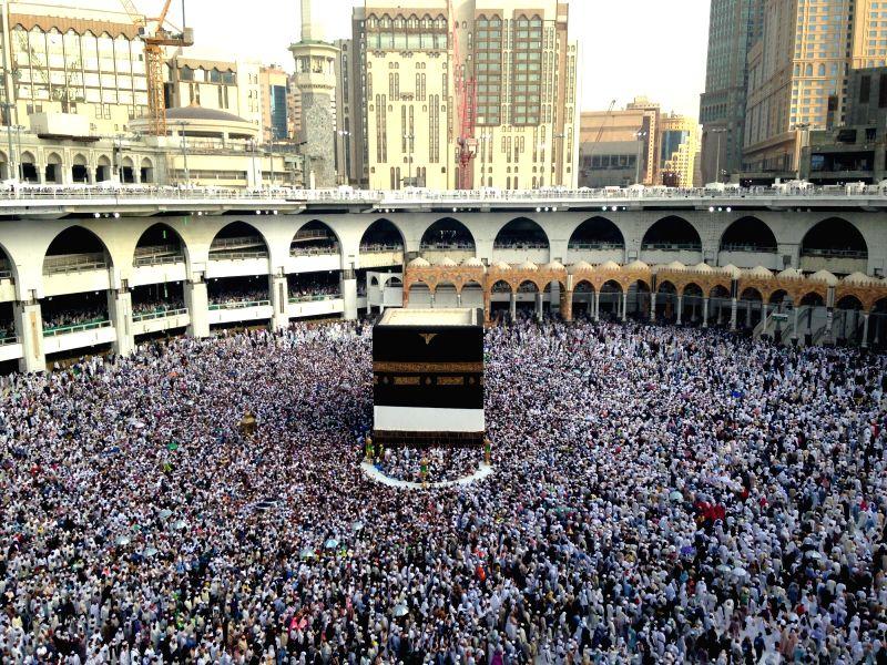 Grand Mosque in Mecca, Saudi Arabia. (Xinhua/Wang BoI/IANS)
