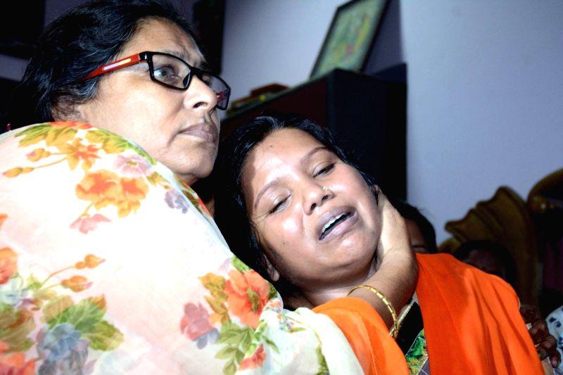 Grief struck JD(U) legislator Bima Bharti whose, son Deepak Kumar was found dead in Kankarbagh of Patna on July 3, 2018. - Deepak Kumar