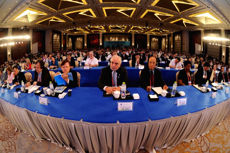 The opening ceremony of the Eco Forum Global Annual Conference Guiyang 2014 is held in Guiyang International Eco-conference Center in Guiyang, capital of southwest .
