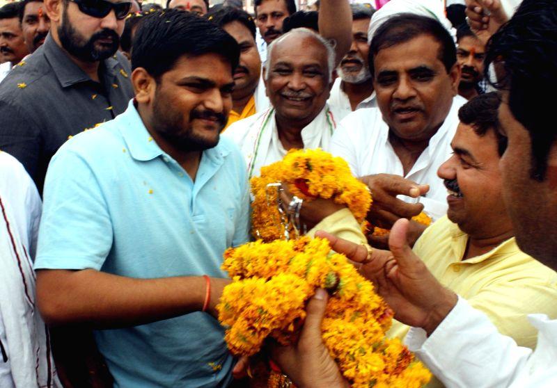 Gujarat's Patidar leader Hardik Patel during his visit to Bhopal in June 9, 2018. - Hardik Patel