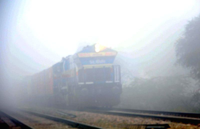 A number of trains get delayed as dense fog covers National Capital Region.