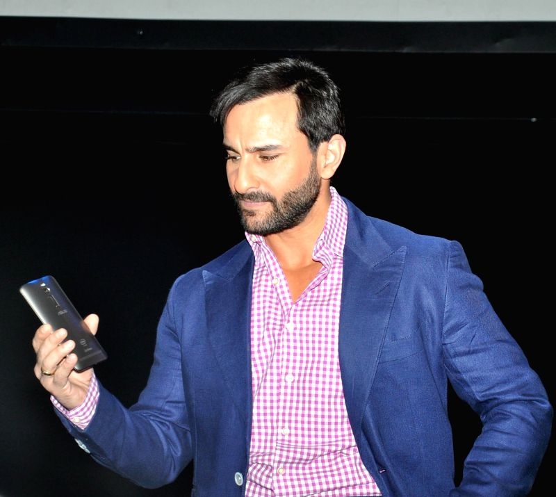 Actor Saif Ali Khan at the launch of an Asus mobile phone in Gurgaon, on April 23, 2015.